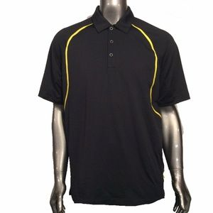 Nike Golf Men's L Black With Gold Graphics Polo